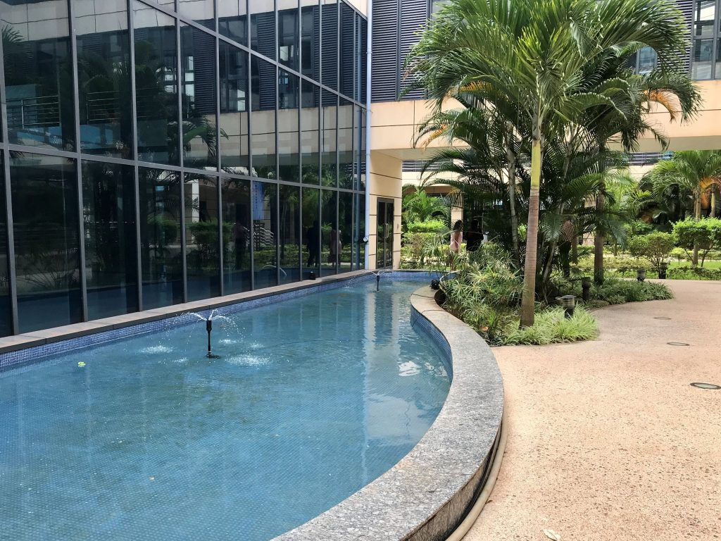 Noah Wealth Center Outside The American Campus at Jin Fei University in Mauritius